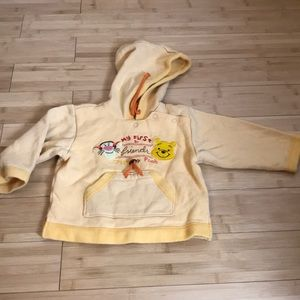 Disney Pooh & Tigher Kid's Hooded Sweater